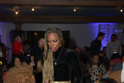 "Yvonne Orji (center) attend the Lowkey ""Insecure"" Dinner presented by Our Stories to Tell at Firewood on January 25, 2020 in Park City, Utah."