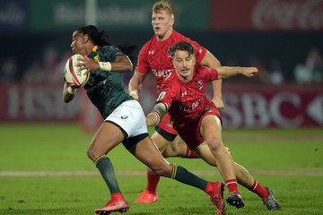 Lucas Hammond Emirates Dubai Rugby Sevens: HSBC Sevens World Series - Day Two