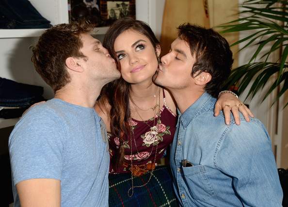 Sunday: Keegan Allen, Lucy Hale and Tyler Blackburn