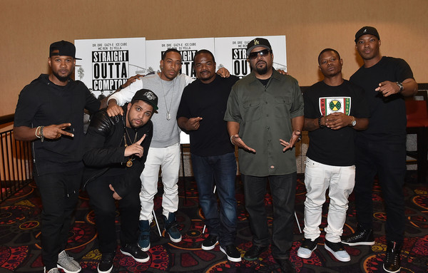 'Straight Outta Compton' VIP Screening With Director/ Producer F. Gary Gray, Producer Ice Cube, Executive Producer Will Packer, And Cast Members [straight outta compton,social group,event,team,f. gary gray,will packer,producer,cast members,ludacris,jason mitchell,usher raymond,ice cube,vip screening]
