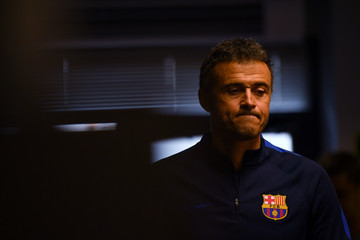 Luis Enrique FC Barcelona Training Session