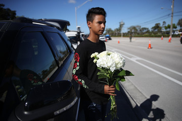 Luis Rodriguez Florida Town of Parkland in Mourning After Shooting at Marjory Stoneman Douglas High School Kills 17