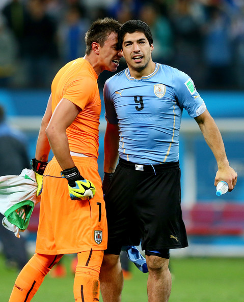 Photo of Fernando Muslera & his friend football player  Luis Suarez - Uruguay