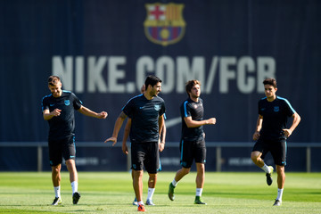 Luis Suarez Barcelona Training Session and Press Conference