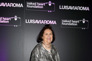 Suzy Menkes attends LuisaViaRoma and Naked Heart Foundation Dinner on January 09, 2019 in Florence, Italy.
