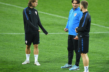 Luka Modric Croatia Training Session