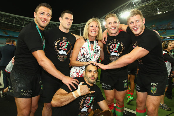 2014 NRL Grand Final - South Sydney v Canterbury [team,competition event,championship,tournament,sports,event,rugby player,sport venue,muscle,rugby union,sam burgess,luke burgess,thomas burgess,julie burgess,george burgess,greg inglis,south sydney,canterbury,nrl grand final,victory]
