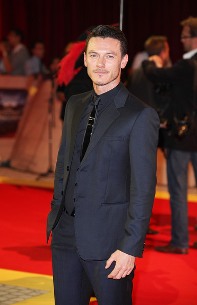 "Luke Evans Actor Luke Evans attends the E One presents the world exclusive premiere of ""The Three Musketeers"" at Vue Westfield on October 4, 2011 in London, England."