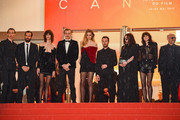 """Paul Hameline ,guest ,Stefania Cristian, Karl Glusman , Abbey Lee, Anthony Vaccarello, Beatrice Dalle, Charlotte Gainsbourg  and Gaspar Noe attend the screening of """"Lux Aeterna"""" during the 72nd annual Cannes Film Festival on May 18, 2019 in Cannes, France."""