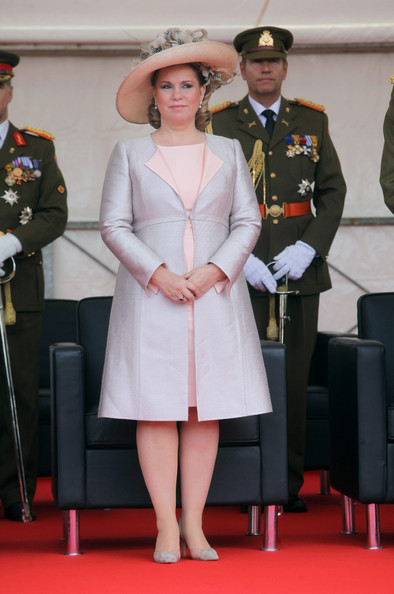 Grand Duchess Maria Teresa of Luxembourg assists National Day Celebrations on June 23, 2012 in Luxembourg, Luxembourg.