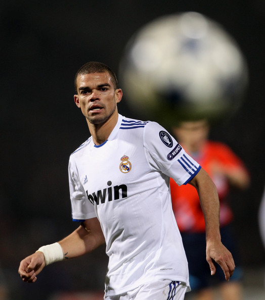real madrid 2011 champions league. Pepe of Real Madrid during the