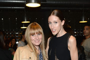 Editor-in-chief of Teen Vogue Amy Astley (L) and model Anna Cleveland attend the MAC Cosmetics launch of their collaboration with Lorde at the MAC Pro Showroom on May 20, 2014 in New York City.