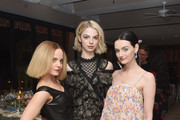 Mena Suvari, Allie Marie Evans and Lydia Hearst attend MAISON-DE-MODE.COM Sustainable Style Gala at Sunset Tower on February 23, 2019 in Los Angeles, California.
