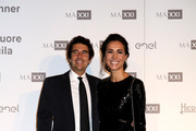 Guido Maria Brera and Caterina Balivo attend MAXXI Acquisition Gala Dinner at Maxxi Museum on November 5, 2018 in Rome, Italy.