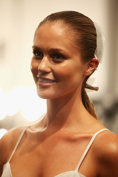 Miss Universe Australia, Scherri-Lee Biggs poses backstage ahead of the Kooey Australia show on day three of Mercedes-Benz Fashion Week Australia Spring/Summer 2012/13 at Overseas Passenger Terminal on May 2, 2012 in Sydney, Australia.
