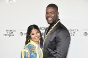 """Misa Hylton Brim and Winston Duke attend the premiere of """"The Remix: Hip Hop x Fashion"""" at Tribeca Film Festival at Spring Studios on May 02, 2019 in New York City."""