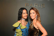 Teyana Taylor and Valerie Messika attend the MESSIKA Party, NYC Fashion Week Spring/Summer 2019 Launch Of The Messika By Gigi Hadid New Collection at Milk Studios on September 12, 2018 in New York City.