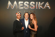 Halima Aden, Andre Messika and Valerie Messika attend the MESSIKA Party, NYC Fashion Week Spring/Summer 2019 Launch Of The Messika By Gigi Hadid New Collection at Milk Studios on September 12, 2018 in New York City.