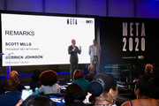 BET President Scott Mills and NAACP President Derrick Johnson speak at META - Convened by BET Networks at The Edition Hotel on February 20, 2020 in Los Angeles, California.