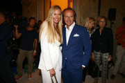 Federica Panicucci and Andrea Della Valle attend the Fay show as a part of Milan Fashion Week Womenswear Spring/Summer 2014 on September 18, 2013 in Milan, Italy.