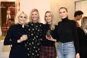 (L-R) MIRROR Founder & CEO Brynn Putnam, Amanda Kloots, Erin Foster, and Sara Foster attend MIRROR Westfield Century City grand opening event at Westfield Century City on November 19, 2019 in Century City, California.