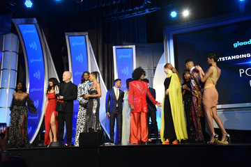 MJ Rodriguez Angelica Ross 30th Annual GLAAD Media Awards New York – Inside