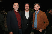 (L-R) Degen Pener, The Hollywood Reporter Editorial Director Matthew Belloni, and Toby Bateman attend MR PORTER Celebrates The Hollywood Reporter's Annual Watch Issue on November 8, 2018 in Los Angeles, California.