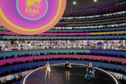 In this screengrab released on November 08, Leigh-Anne Pinnock, Jade Thirlwall and Perrie Edwards of Little Mix presenting at the MTV EMA's 2020 on November 01, 2020 in London, England. The MTV EMA's aired on November 08, 2020.