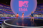 In this screengrab released on November 08, Hosts Leigh-Anne Pinnock, Jade Thirlwall and Perrie Edwards of Little Mix presenting at the MTV EMA's 2020 on November 01, 2020 in London, England. The MTV EMA's aired on November 08, 2020.