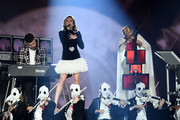 Zara Larsson performs on stage with Clean Bandit during the MTV EMAs 2017 held at The SSE Arena, Wembley on November 12, 2017 in London, England.
