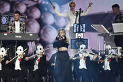 Anne Marie performs on stage with Clean Bandit during the MTV EMAs 2017 held at The SSE Arena, Wembley on November 12, 2017 in London, England.