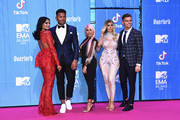(L-R) Abbie Holborn, Nathan Henry, Sophie Kasaei, Chloe Ferry and Sam Gowland attend the MTV EMAs 2018 at Bilbao Exhibition Centre on November 4, 2018 in Bilbao, Spain.