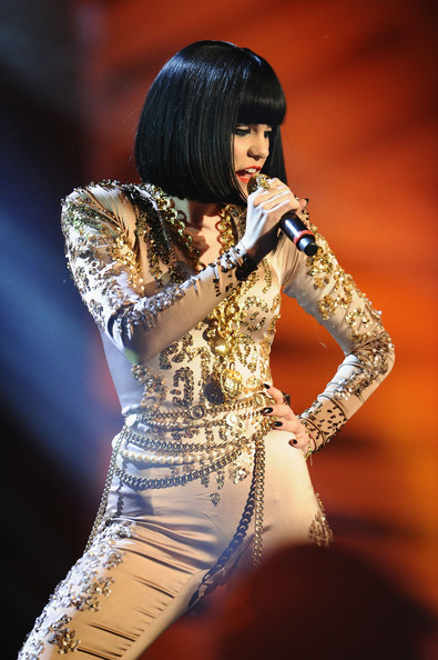Singer Jessie J performs onstage during the MTV Europe Music Awards 2011 live show at the Odyssey Arena on November 6, 2011 in Belfast, Northern Ireland.