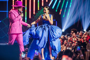 Hugo Gloss and Sabrina Sato performs live on stage during MTV MIAW 2019 at Credicard Hall on July 3 , 2019 in Sao Paulo, Brazil.