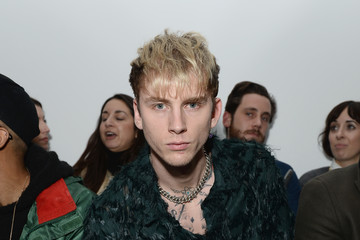 Machine Gun Kelly Celebrities & Front Row - Day 3 - LFW Men's January 2017