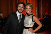 Thomas Rhett and Lauren Gregory attend the Big Machine Label Group CMA Awards after party on November 6, 2013 in Nashville, Tennessee.