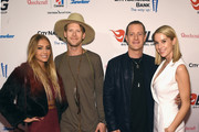 (L-R) Brittney Marie Cole, Musicians Brian Kelley and Tyler Hubbard of Florida Georgia Line and Hayley Stommel attend as Big Machine Label Group celebrates The 49th Annual CMA Awards at Rosewall on November 4, 2015 in Nashville, Tennessee.