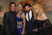 (L-R) CEO of Big Machine Records Scott Borchetta, Jennifer Nettles and Kristian Bush of Sugarland and BMLG's Sandi Spika Borchetta attend the Big Machine Label Group's celebration of the 51st Annual CMA Awards at FGL House in Nashville on November 8, 2017 in Nashville, Tennessee.