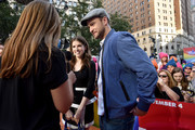 Anna Kendrick and Justin Timberlake give an interview at the Macy's Celebration of Trolls At Herald Square With Justin Timberlake And Anna Kendrick at Macy's Herald Square on October 6, 2016 in New York City.