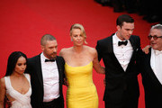 "Zoe Kravitz, Tom Hardy, Charlize Theron, Nicholas Hoult and Georges Miller  attend Premiere of ""Mad Max: Fury Road"" during the 68th annual Cannes Film Festival on May 14, 2015 in Cannes, France."