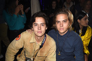 Actors Cole Sprouse (L) and Dylan Sprouse attend Tyler, the Creator's fashion show for Made LA at L.A. Live on June 11, 2016 in Los Angeles, California.