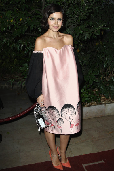 Miroslava Duma attends the  Mademoiselle C  cocktail party at Pavillon Ledoyen on October 1, 2013 in Paris, France.