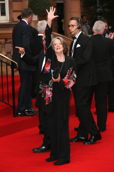 Maggie Smith Red Carpet Dresses