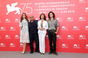 "Amir Naderi, Sophie Lane Curtis, Jacqueline Bisset and Monk Serrell-Freed attend ""Magic Lantern"" photocall during the 75th Venice Film Festival at Sala Casino on September 4, 2018 in Venice, Italy."