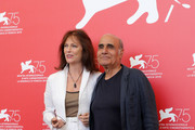 "Jacqueline Bisset and Amir Naderi attend ""Magic Lantern"" photocall during the 75th Venice Film Festival at Sala Casino on September 4, 2018 in Venice, Italy."