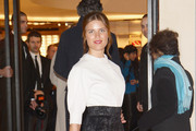 Alessia Piovan attends the Maison Louis Vuitton Roma Etoile Cocktail red carpet on January 27, 2012 in Rome, Italy.