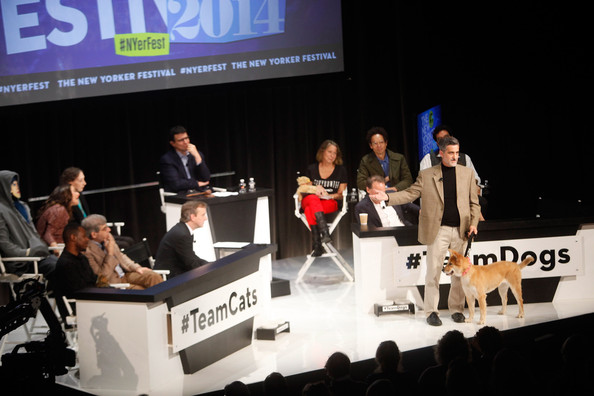 The New Yorker Festival 2014 - You, The Jury: Cats Vs. Dogs with Anthony Lane, Jesse Eisenberg, Jill Abramson, and Others, Moderated by David Remnick