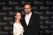 """Joachim Ronning and Amanda Hearst attend """"Maleficent 2"""" Disney Premiere at Colosseum on October 14, 2019 in Oslo, Norway."""