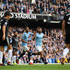 Sergio Aguero Photos - Sergio Aguero of Manchester City celebrates with team-mate Riyad Mahrez after scoring during the Premier League match between Manchester City and Burnley FC at Etihad Stadium on October 20, 2018 in Manchester, United Kingdom. - Manchester City v Burnley FC - Premier League