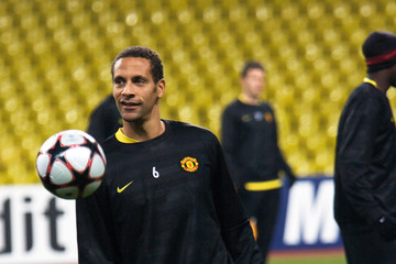 Rio Ferdinand Manchester United Training And Press Conference